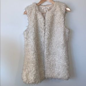 2/$35 H&M // Cream Faux Fur Vest